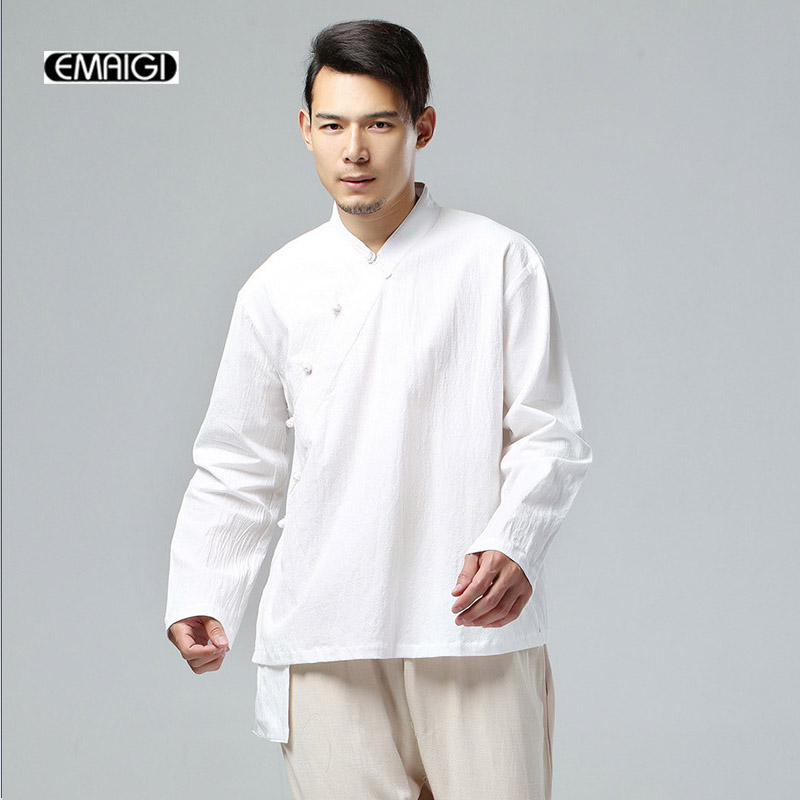 Spring Autumn Men Cotton Linen Jacket fashion casual Male Kong Fu Jacket Chinese Coat Hip Hop