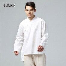 Spring Autumn Men Cotton Linen Jacket fashion casual Male Kong Fu Jacket Chinese Coat Hip Hop