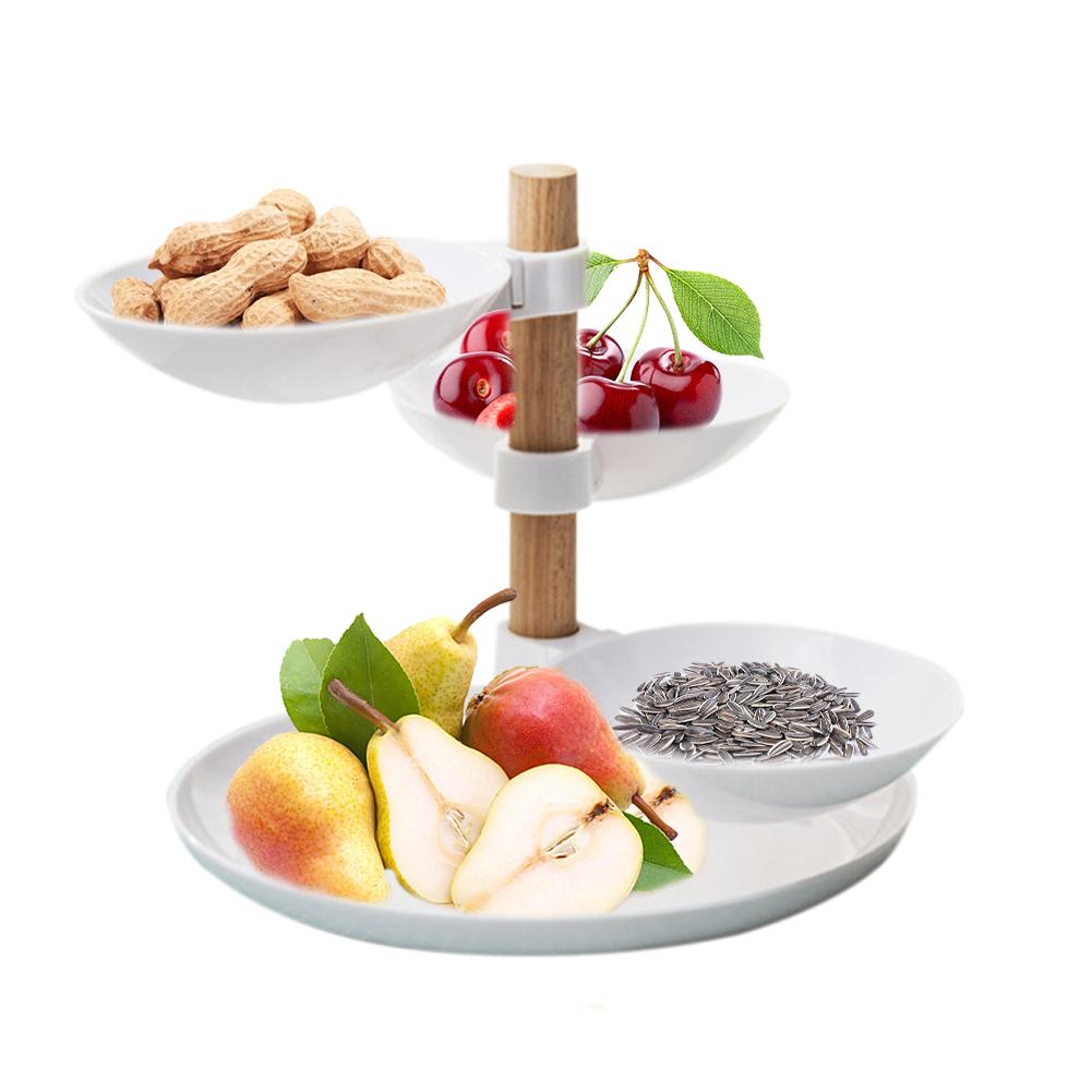 European Minimalist Style Four Layers Fruit Candy Tray Living Room Desktop Food Storage Basket Creative Home Tiered Accessory