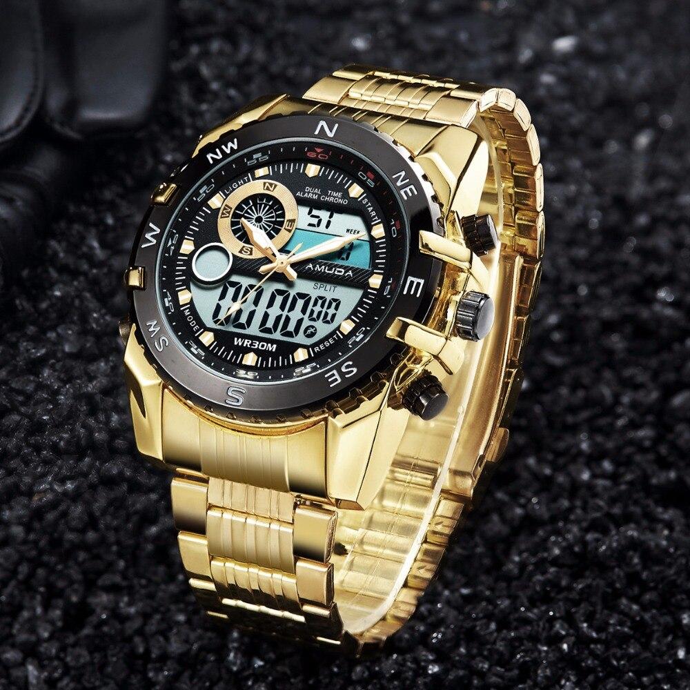AMUDA Men Luxury Wristwatches Fashion Sport Watch Auto Date 30M Waterproof Relogio Masculino Male Watches top brand luxury men watch luxury sport quartz 30m waterproof watches male stainless steel new auto date wristwatches relojes