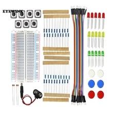 Kit de démarrage UNO R3 Mini planche à pain LED cavalier fil bouton pour arduino Kit de bricolage