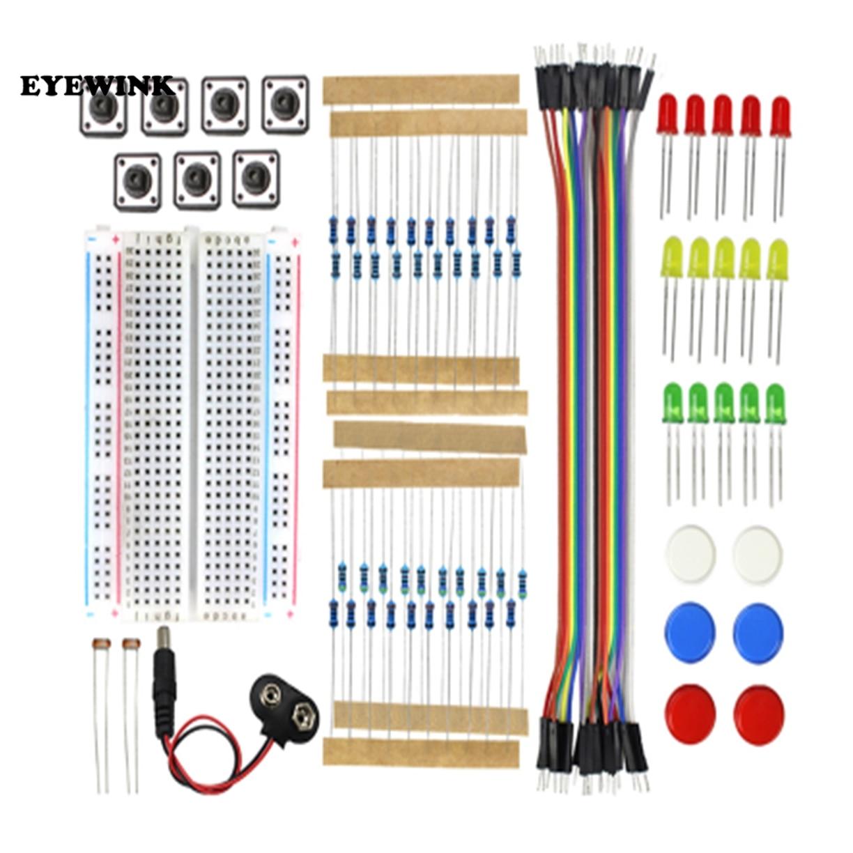 Starter Kit UNO R3 Mini Breadboard LED Jumper Wire Button for arduino Diy Kit(China)