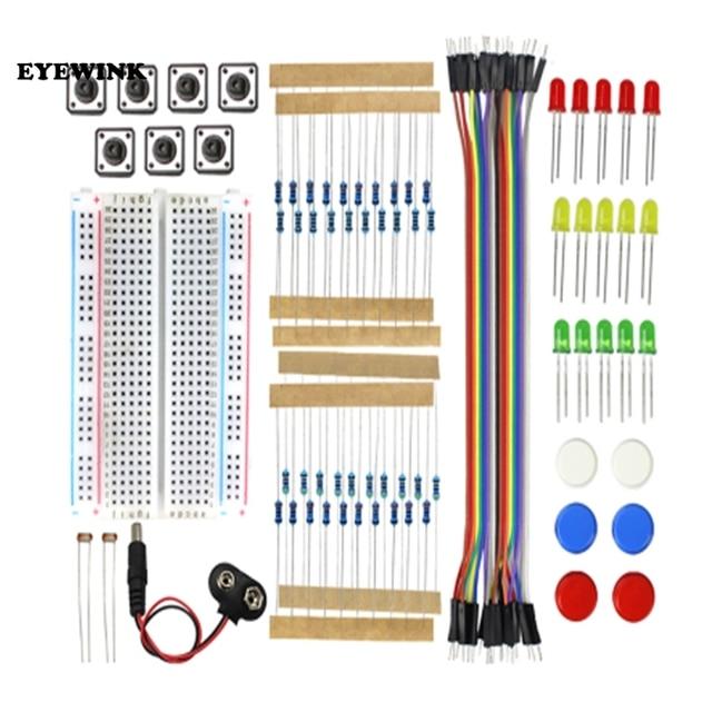 Стартовый Комплект UNO R3, мини макетная плата, светодиодный, перемычка, кнопка для arduino, Diy Kit