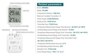 Image 2 - Inkbird ITH 20R цифровой гигрометр комнатный термометр датчик влажности с точным температурным дисплеем для аквариума гаража