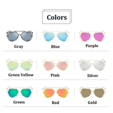Brand Designer 2016 New Big Mirror Sunglasses Women Hexagon Lovers Hippie Ladies Sunglasses UV400 Pilot Rose Gold Sun Glasses