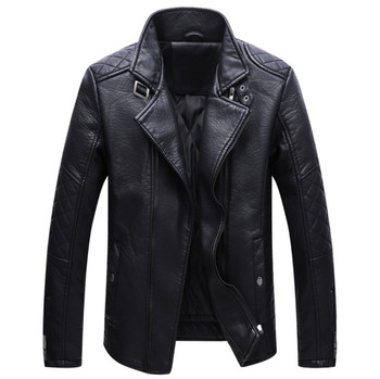 Dropshipping new autumn men leather jacket and coat fashion pu leather coat men outwear leather jackets jaqueta de couro