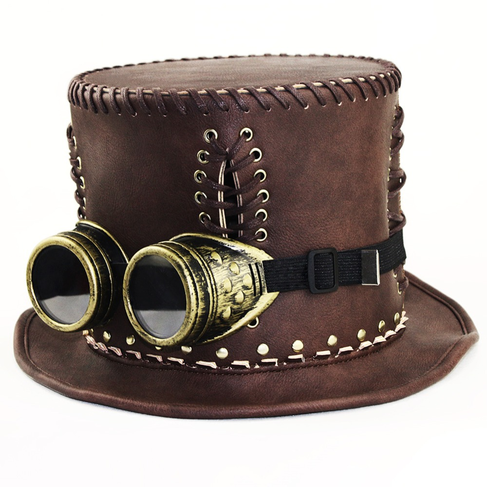 Women Retro hat Victorian Steampunk Industrial gentleman Lolita Dance party Hat Halloween Cosplay Props
