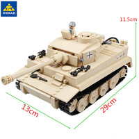 KAZI 995Pcs German King Tiger Tank Building Blocks Sets Compatible leego Military WW2 Army Soldiers Bricks Toys for Children