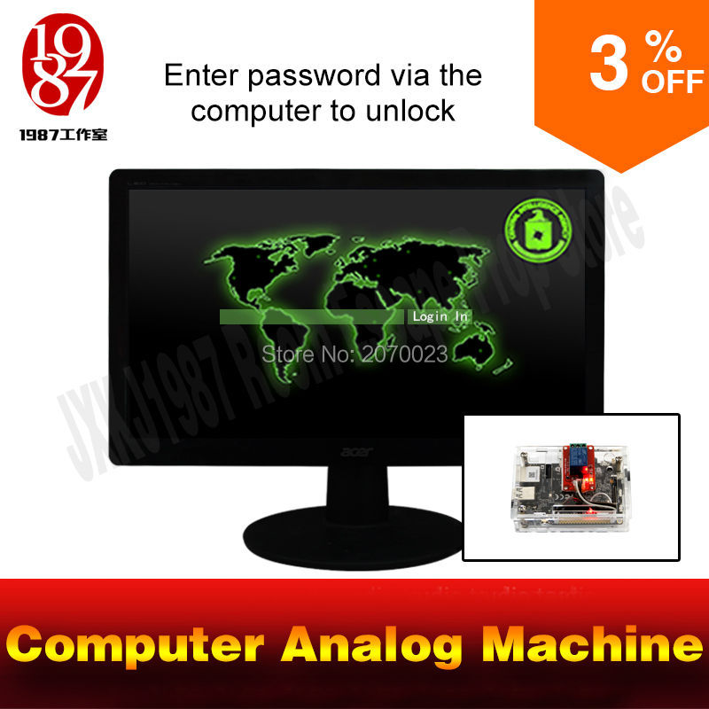 цена real life room escape game prop computer analog machine enter password via computer to unlock and get picture clues онлайн в 2017 году