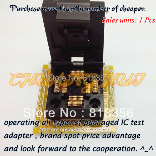 IC TEST IC51-0644-807 IC Socket TQFP64/QFP64 Test Socket Pitch:0.5mm Size:10x10/12x12mm