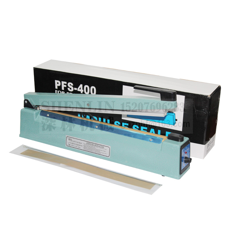 Ручной импульсный упаковщик SHENLIN, машина для запечатывания пластиковых пакетов, ручной упаковщик посылка вой фольги SF400 110 В/220 В 400 мм * 3 мм, металл-0
