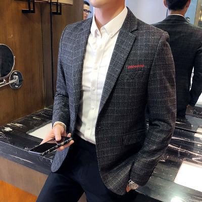 2018 new casual suit male Slim Korean version of the trend of handsome British style suit jacket single coat