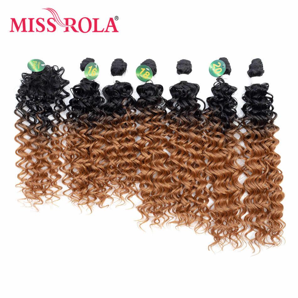 الآنسة رولا الاصطناعية مجعد الشعر أومبير الملونة الشعر نسج حزم 16-20 بوصة 6 قطعة/الحزمة 200 جرام T1B/30 مع إغلاق مجانية