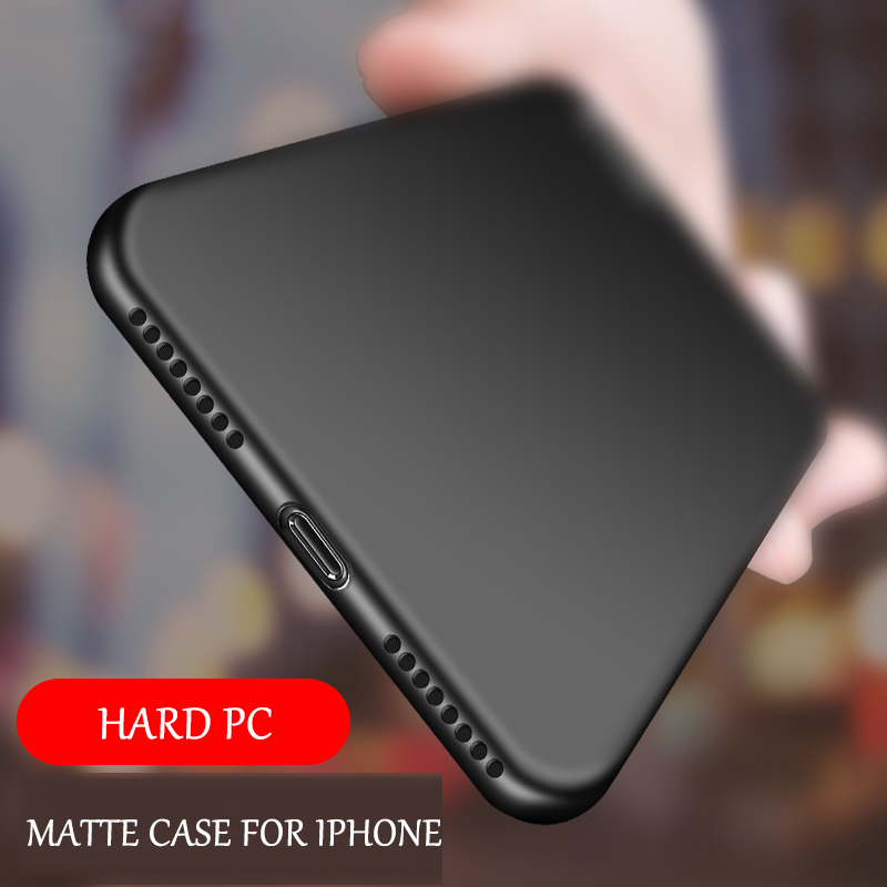 Original hard plastic matte phone case for Apple iphone X 8 7 6 6S plus solid color cases for iPhone x back cover Frosted funda