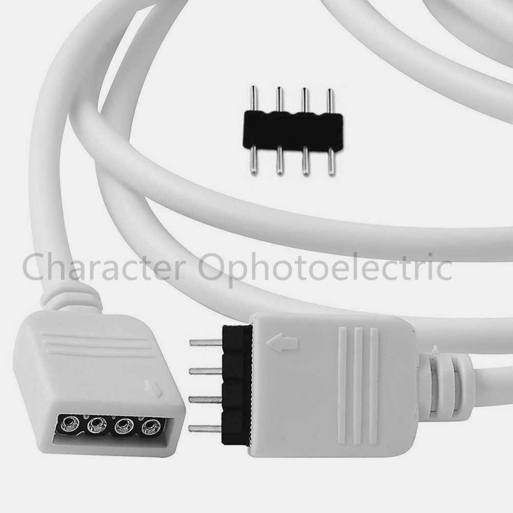 30 см 50 см 100 см 150 см 200 см 250 см 300 см 500 см 4 Pin 3528 5050 RGB Светодиодные ленты Разъем удлинитель провода кабеля Женский удлиннитель