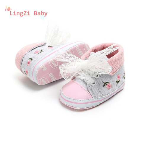 Baby Shoes Baby The First Walker Shoes Baby Girl With Delicate Embroidery Flowers Soft Bottom Toddler Shoes Multan