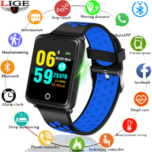 LIGE Smart Wristband Men Women Sport Bracelet Heart Rate Blood Pressure Monitor Fitness Tracker Waterproof Watch