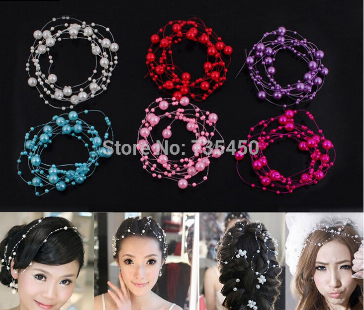 5M Pearls Beads Chain Garland Flowers Wedding Decoration Bead Chain DIY crafts garland birthday hair accessories party supplies