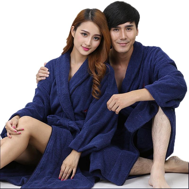 Cotton Men Bathorbe Pajamas Bathrobe Bridesmaid Home Family XXL Men's Robe Nightgown Boys Thickening Soft Long Autumn Winter