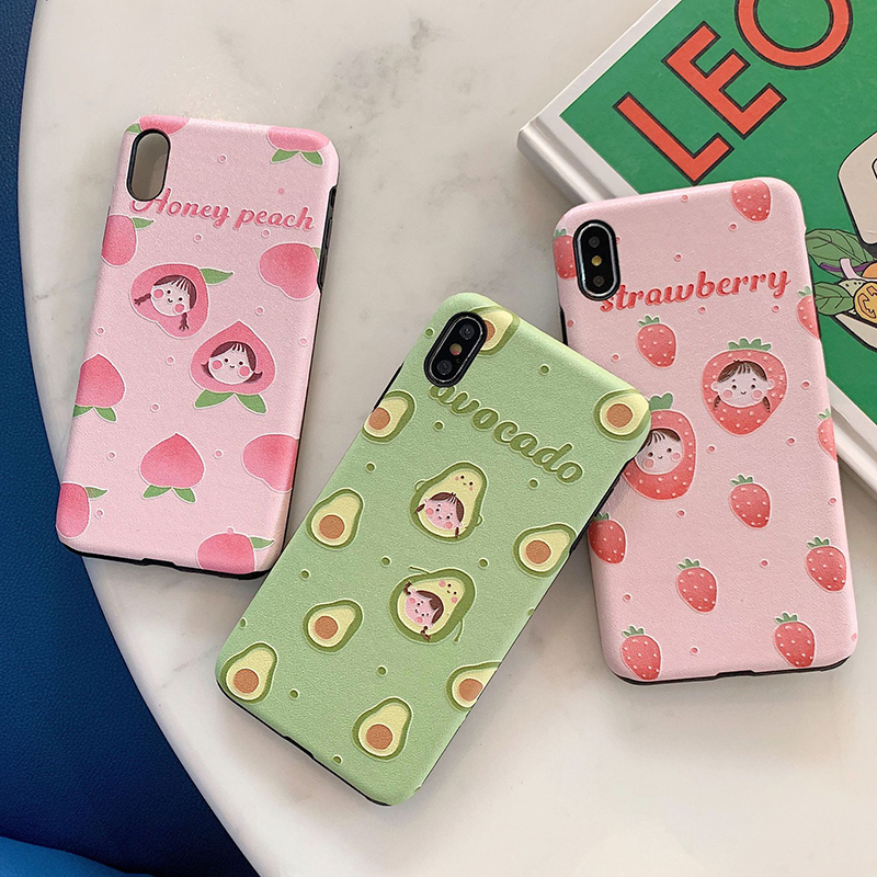 Protective Coque For iphone 6 6s 7 8  plus Fashion Fruit Girl Soft Phone Case Cover For iPhone XS Max XR X 6 7 8 Plus Fundas