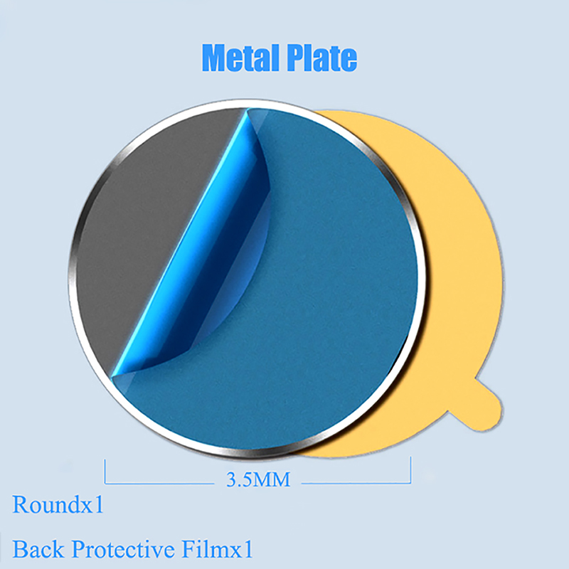 Metal Plate Disk For Magnet Car Phone Holder iron Sheet Sticker For Magnetic Mobile Phone Holder Car Stand Mount Replacement Kit in Phone Holders Stands from Cellphones Telecommunications