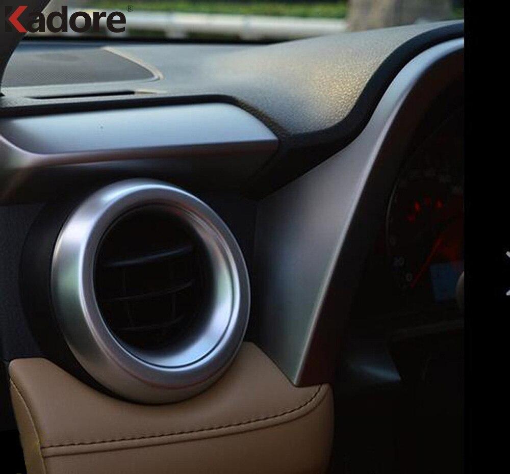 Für Toyota RAV4 RAV 4 2016 2017 ABS Matte Air Vent Outlet Abdeckung Trim Ring Dekoration Molding Auto Styling Innen zubehör