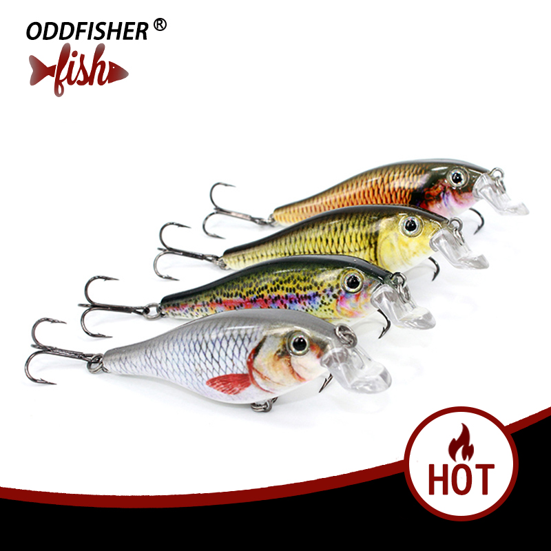Original oddfisher YH10 Crankbait Fishing Wobblers Minnow Lures Isca Artificial Jerkbait Hard Crank Bass Pike Fish Lake River