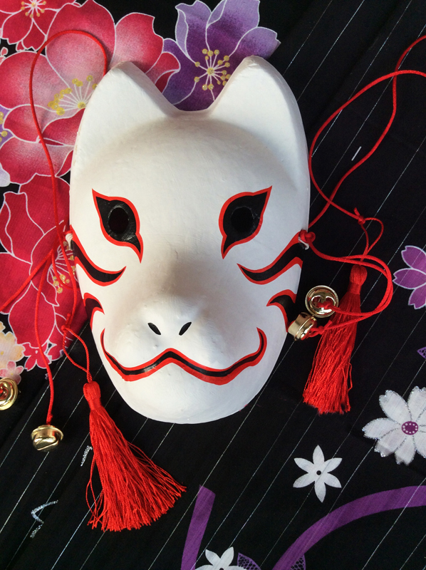 Full Face Hand Painted font b Naruto b font Hatake Kakashi Anbu Japanese Style Plaster Kitsune