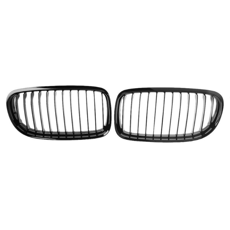 1 Pair Car ABS Plastic Gloss Black Front Bumper Kidney Grilles Racing Grills for BMW E90 E91 2008 2011 Auto Accessories