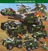 6в1 land team транспортный самолет подарок для детей блочная игрушка Совместимость Legoing327