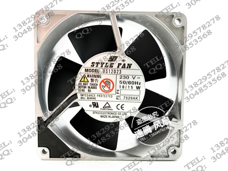 Original US12D23 w 16/15 230 v 12038 aluminum machine cooling fans delta 12038 12v cooling fan afb1212ehe afb1212he afb1212hhe afb1212le afb1212she afb1212vhe afb1212me