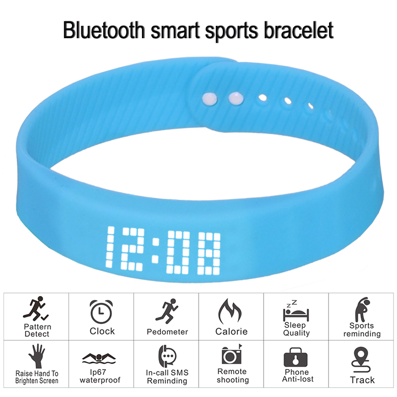 Image 2 - smart wristband 3D fitness tracker Bluetooth bracelet waterproof led display watch for huawei xiaomi Android IOS 2019 newversion-in Smart Wristbands from Consumer Electronics