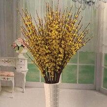 Искусственные из ПЭ цветок материал весенний цветок имитация жасмина цветы свадебные принадлежности Дисплей украшения для дома и офиса Декор
