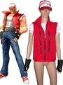 Envío Gratis King of Fighters Máximo Impact2 Terry Bogard Juego del traje de Cosplay