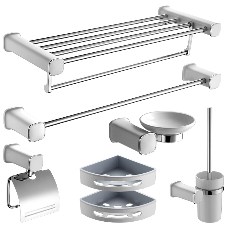 Bathroom Hardware Accessories Set Clothes Hooks Towel racks Toilet cup Paper rack Toothbrush buckle/cup Bath Shelf Pendant suite european towel rack paper holder hooks bath hardware set copper racks rose gold ceramic base bathroom hardware accessories ym6