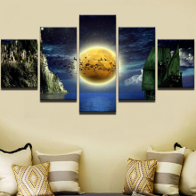 Moon Modern Decorative HD Print Wall Art Canvas Painting Artwork Landscape Home For Living Room