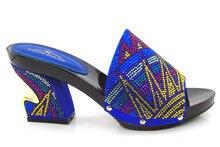 Royal Blue Benutzerdefinierte Handmade Strass Braut Hochzeit Abendschuhe Afrikanischen Sandalen Für Partei Heißer Verkauf!! DG1-38