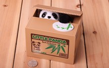 Coin Piggy Bank Cat Panda Automatic Coin Storage Money Saving Box Gifts For Kids
