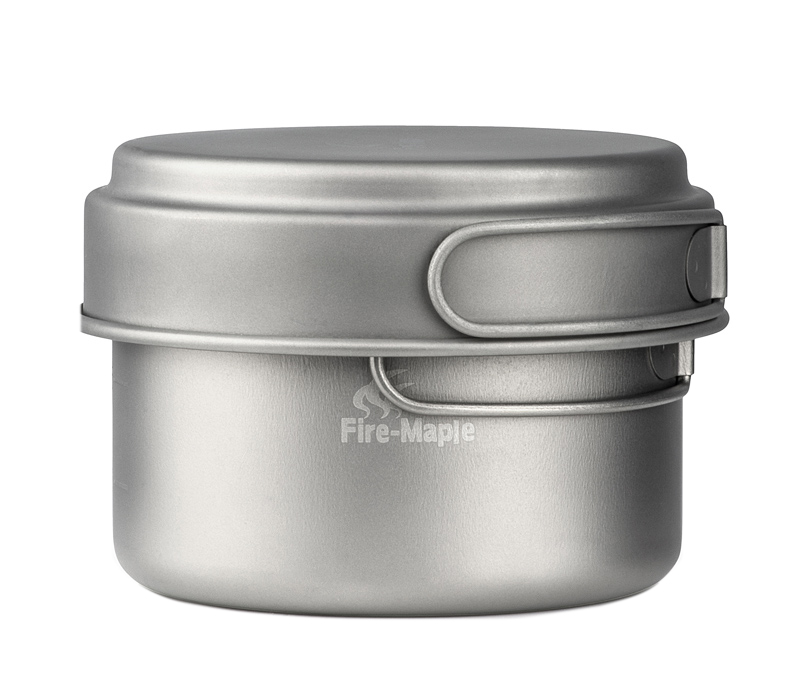 ФОТО 1-2 Person Titanium Pot Camping Picnic Pot Outdoor Cookware FMC-DP3