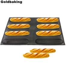 مقلاة خبز سيليكون غير لاصقة ، شكل بيضاوي ، للخبز ، للكعك ، هوت دوج ، 5 أحجام للاختيار من بينها