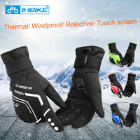 INBIKE new style Winter Cycling Gloves Gel Padded Thermal Full Finger Bike Bicycle Gloves Touch Screen Windproof Men's Gloves