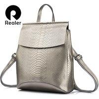 REALER Backpack Women Shoulder Bags Travel Bag Leather Leather Backpacks For School High Capacity Backpacks Fashion