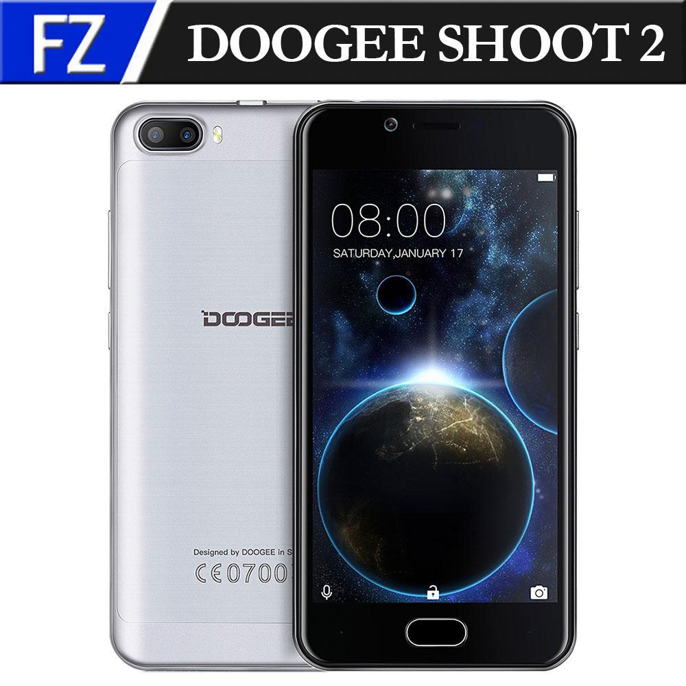 "Цена за DOOGEE СТРЕЛЯТЬ 2 5.0 ""HD MTK6580A Quad core Dual CAM 1 ГБ RAM 8 ГБ ROM Android 6.0 3 Г Телефон 3360 мАч Touch ID"