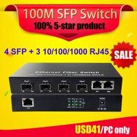 SFP 4G3E 20km 1000M Gigabit Sfp Fiber Port RJ45 Ethernet Port Fiber Optic Media Converter Ethernet