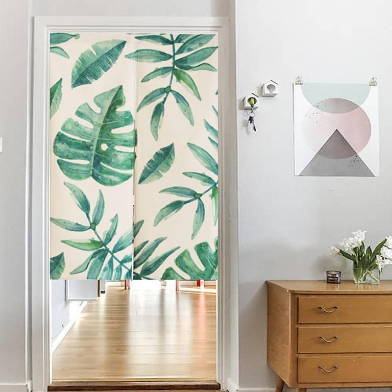Chinese Pastoral Window Kitchen Valance Linen Curtain