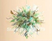Fancy Design 100% Handmade Blown Glass Chandelier For Sale