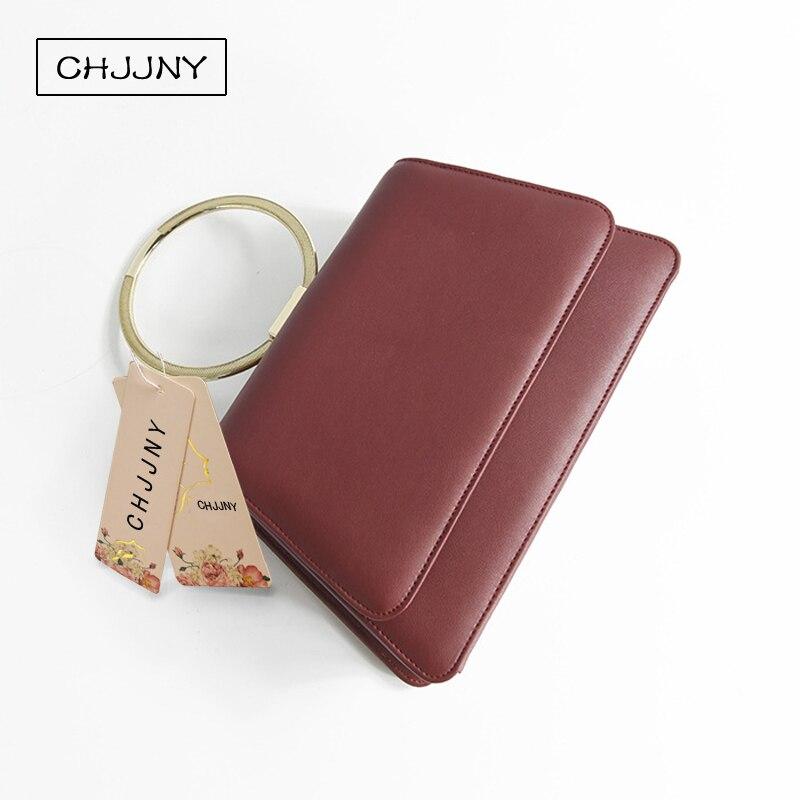 ФОТО CHJJNY 2017 newest fashion simple style women genuine leather customized vintage bracelet hand bag