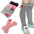 Kids Stripe Knee Stock 1-8 years Baby  Bowknot Cotton Sock Leg Warmers High Socks