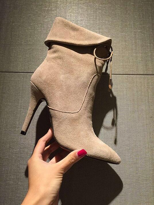 Hot selling women ankle boots pointed toe fur inside lace-up high heel booties size 34 to 39 discount price party drees shoes wo lace up peep toe snakeskin stiletto heel women ankle boots fashion cutouts high heel booties party dress shoes size 34 to 42