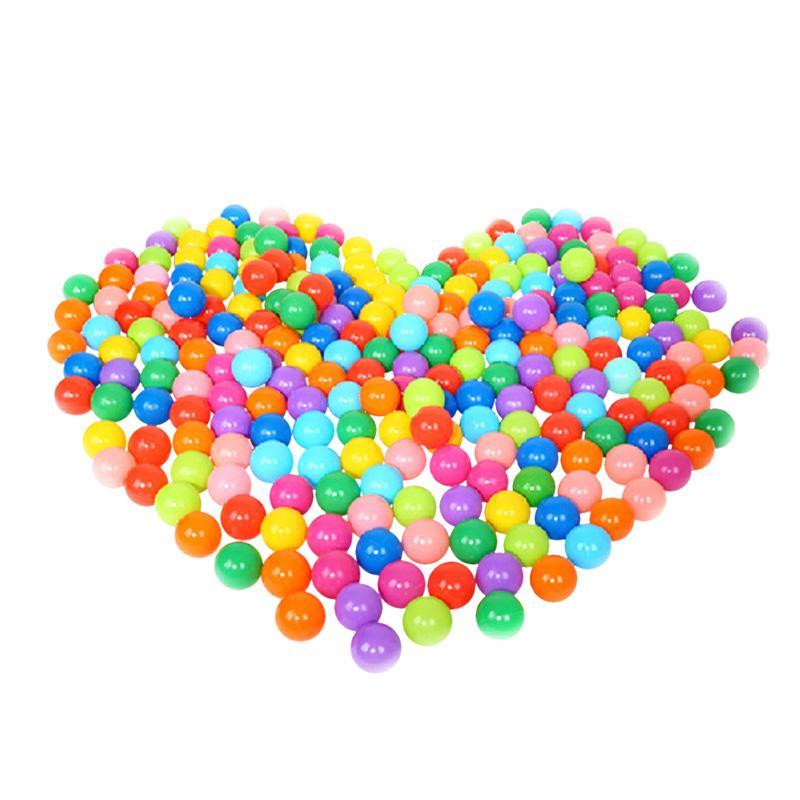 100 PCS Colorful Ball Plastic Soft Ocean Swim Outdoor Indoor 5.5 CM Toy Set for Babies Kids Children Birthday Pool